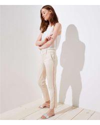 LOFT - Side Stripe Girlfriend Chinos - Lyst