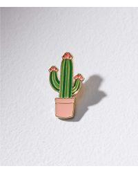 LOFT - Cactus Enamel Pin - Lyst