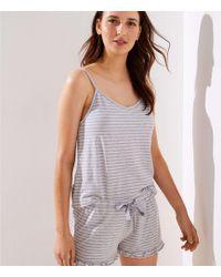 LOFT - Striped Cami Pajama Set - Lyst