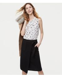 LOFT - Petite Pocket Wrap Sweater Skirt - Lyst