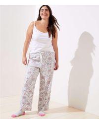 LOFT - Plus Vine Pajama Pants - Lyst