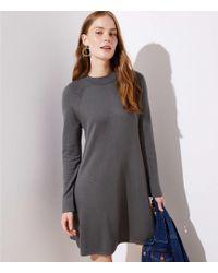 LOFT - Petite Swing Sweater Dress - Lyst