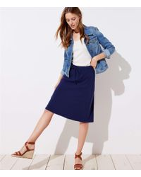 LOFT - Petite Drawstring Full Skirt - Lyst
