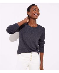 LOFT - Shirttail Sweater - Lyst