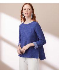LOFT   Lou & Grey Textured Hi-side Sweatshirt   Lyst