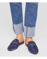 LOFT - Floral Loafer Slides - Lyst