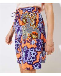 LOFT - Floral Pocket Drawstring Skirt - Lyst