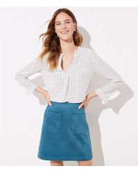 f80babf77 LOFT Tall Striped Sailor Pocket Shift Skirt in Blue - Lyst