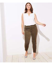 LOFT - Plus Ankle Zip Corduroy Skinny Pants - Lyst