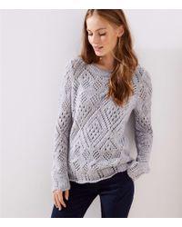 LOFT - Lacy Knit Sweater - Lyst