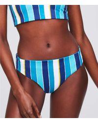 19abd55ee309e LOFT Beach Smocked Hipster Bikini Bottoms in Black - Lyst