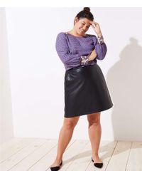LOFT - Plus Faux Leather Pocket Skirt - Lyst