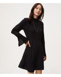 loft dresses. LOFT | Button Trim Bell Sleeve Dress Lyst Loft Dresses