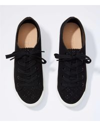LOFT - Eyelet Lace Up Trainers - Lyst