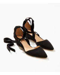 LOFT - Ankle Tie Wedges - Lyst