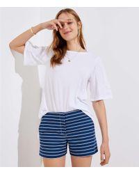 LOFT - Striped Riviera Shorts - Lyst