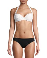 Tommy Bahama - Solid Underwire Full Coverage Halter Cup Bra - Lyst