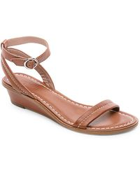 Bernardo - Catherine Leather Wedge Sandals - Lyst