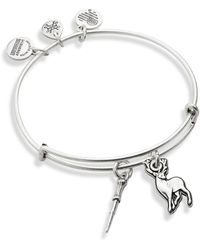 ALEX AND ANI - Harry Potter Wand And Patronus Duo Charm Bangle - Lyst