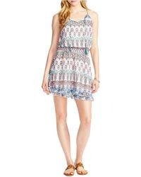 Jessica Simpson - Windsor Sleeveless Ruffle Dress - Lyst