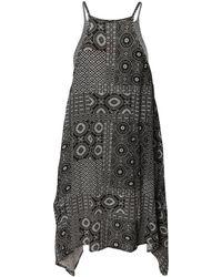 Dex - Printed Handkerchief Dress - Lyst