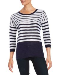 Two By Vince Camuto - Striped Roundneck Pullover - Lyst