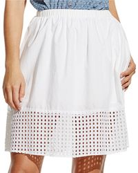 Two By Vince Camuto - Elastic Waistband Eyelet Skirt - Lyst