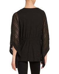 Two By Vince Camuto - Knit Lace Poncho - Lyst