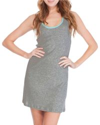 Munki Munki - Heathered Racerback Tank Dress - Lyst