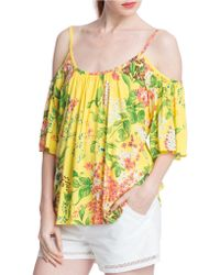 Plenty by Tracy Reese - Print Cold-shoulder Top - Lyst