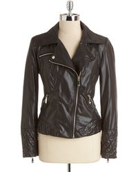 Vince Camuto - Last Stop! Asymmetrical Zip-front Motorcycle Jacket - Lyst