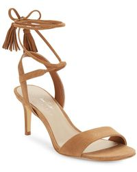 424 Fifth - Giovanna Suede Sandals - Lyst