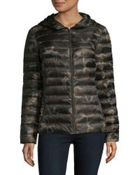 Lord & Taylor - Missy Hooded Puffer - Lyst