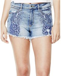 Guess - Embroidered Pineapple Shorts - Lyst