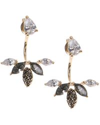 Judith Jack - Im All Ears 10k Yellow Gold, Sterling Silver And Cubic Zirconia Front Back Earrings - Lyst