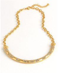 ABS By Allen Schwartz - Pave Adjustable Torque Necklace - Lyst