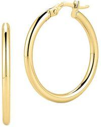 Roberto Coin - 18k Yellow Gold Oval Hoop Earrings/1 - Lyst