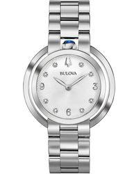 Bulova - Rubaiyat Stainless Steel And Diamond Bracelet Watch - Lyst