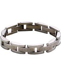Lord & Taylor - Sterling Silver Greek Key Men's Bracelet - Lyst