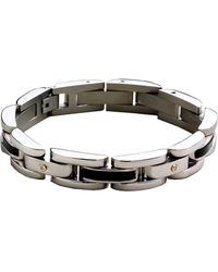 Lord & Taylor - Sterling Silver Mens Bracelet - Lyst