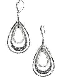 Judith Jack - Orbital Triple Teardrop Hoop Earrings - Lyst