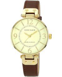 Anne Klein   Ladies Brown Leather Watch   Lyst
