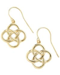 Lord & Taylor - 18 Kt Gold Over Sterling Silver Celtic Knot Drop Earrings - Lyst