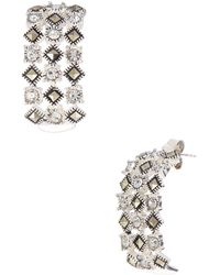 Lord & Taylor - Sterling Silver And Marcasite Glitz Drop Earrings - Lyst