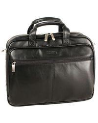 Kenneth Cole Reaction - Leather Portfolio Briefcase - Lyst