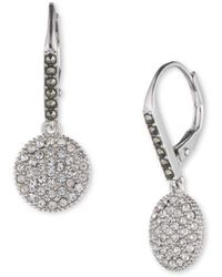 Judith Jack - Crystal, Marcasite And Sterling Silver Disc Drop Earrings - Lyst