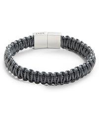 John Zack - Leather Macrame Bracelet - Lyst