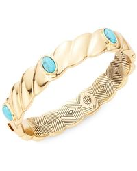 House of Harlow 1960 - Faux Turquoise-accented Scalloped Bangle - Lyst
