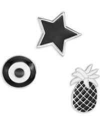 Lord & Taylor - Pineapple, Star And Target Pin Set - Lyst