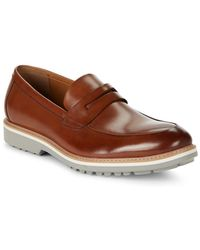Kenneth Cole Reaction - Epic Time Leather Loafers - Lyst